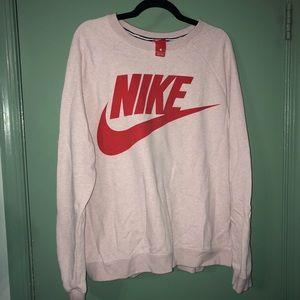 Light Pink Nike Crewneck Sweatshirt